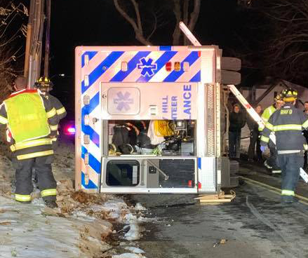 3 Volunteers Hurt in Connecticut Ambulance Crash