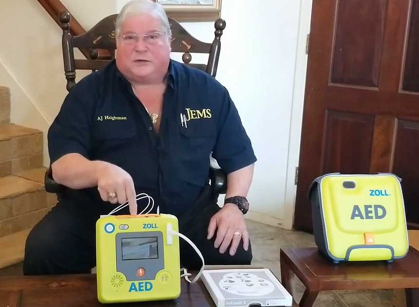 A.J. Heightman and AED 3 BLS