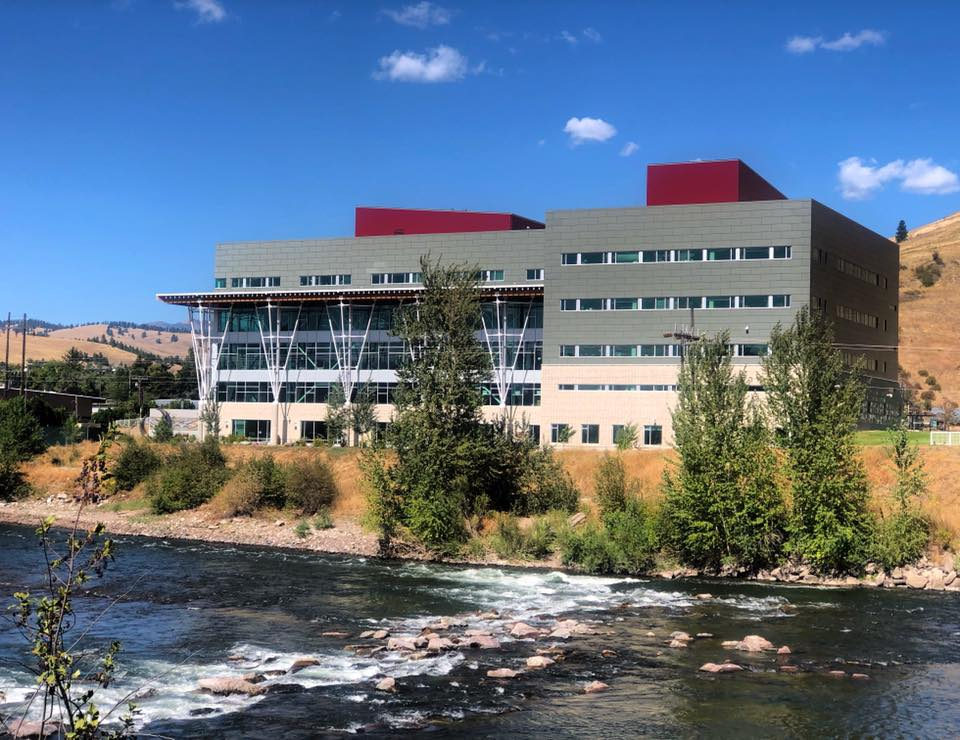 The photo shows a Missoula College academic building.