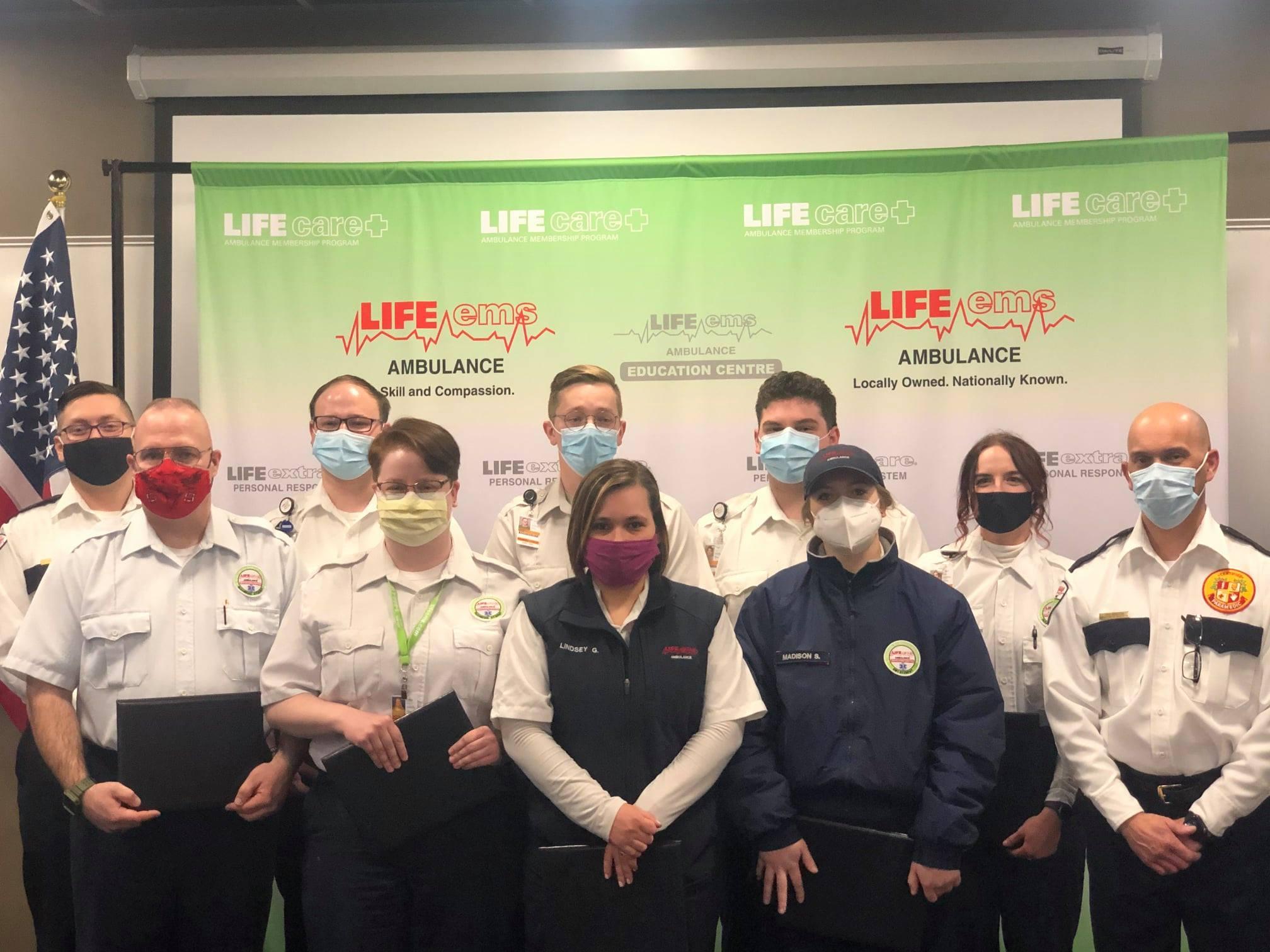New Life EMS Ambulance members.