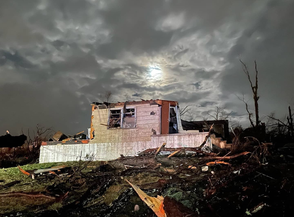 A home in Fultondale, Alabama, ruined by a tornado last month.