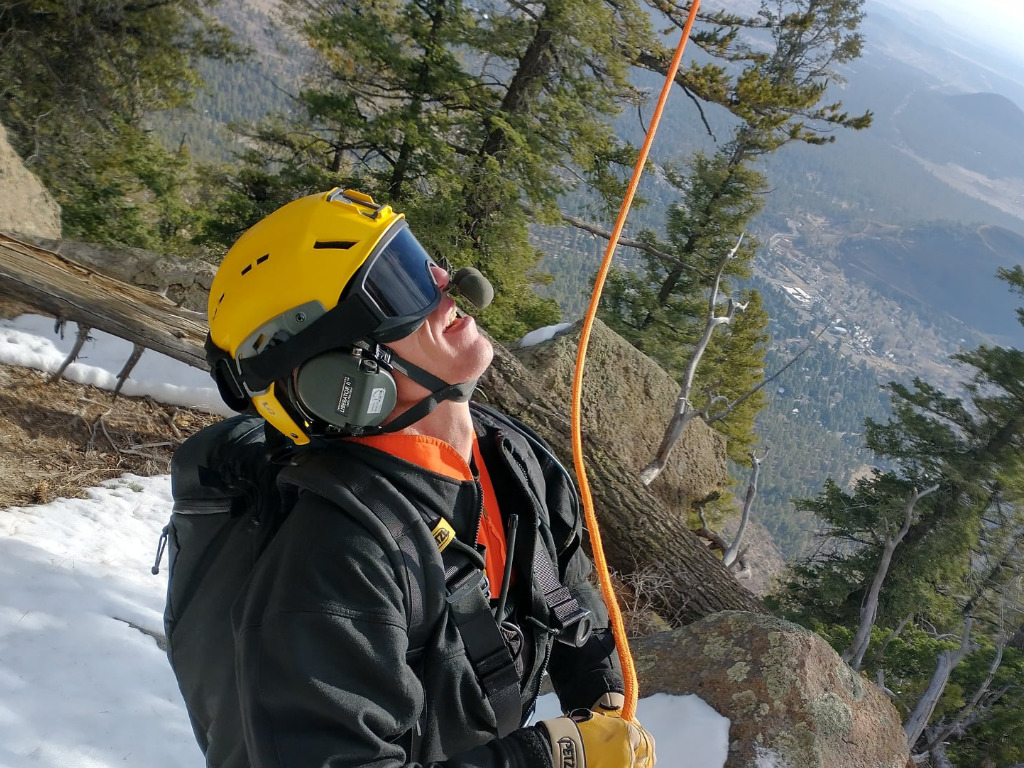 Coconino County Sheriff's Office Search and Rescue conducts overnight rescue off Fat Mans Loop Trail on Mount Elden.