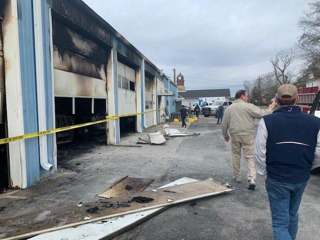 Georgia Gov. Brian Kemp toured the damage on Sunday.