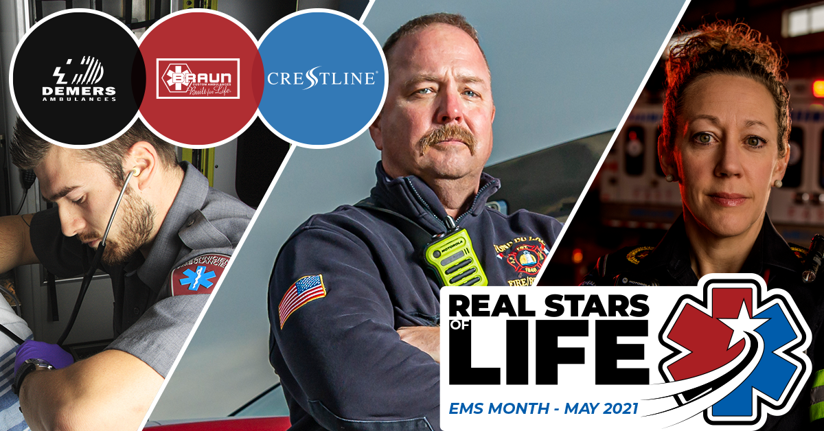 Demers Ambulances, Braun Ambulances, and Crestline Coach celebrate EMS Week and Paramedics Services Week throughout May.